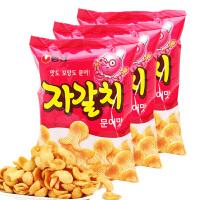 【包邮】韩国进口 农心章鱼海鲜虾片90g*3袋