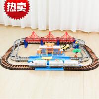 拖马斯轨道小火车高铁和谐号男孩玩具积木拼装高架桥动车定制 和谐号双层轨道