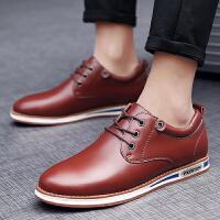 货到付款 新款男士商务皮鞋透气休闲皮鞋男真皮舒适英伦工作皮鞋户外休闲鞋男
