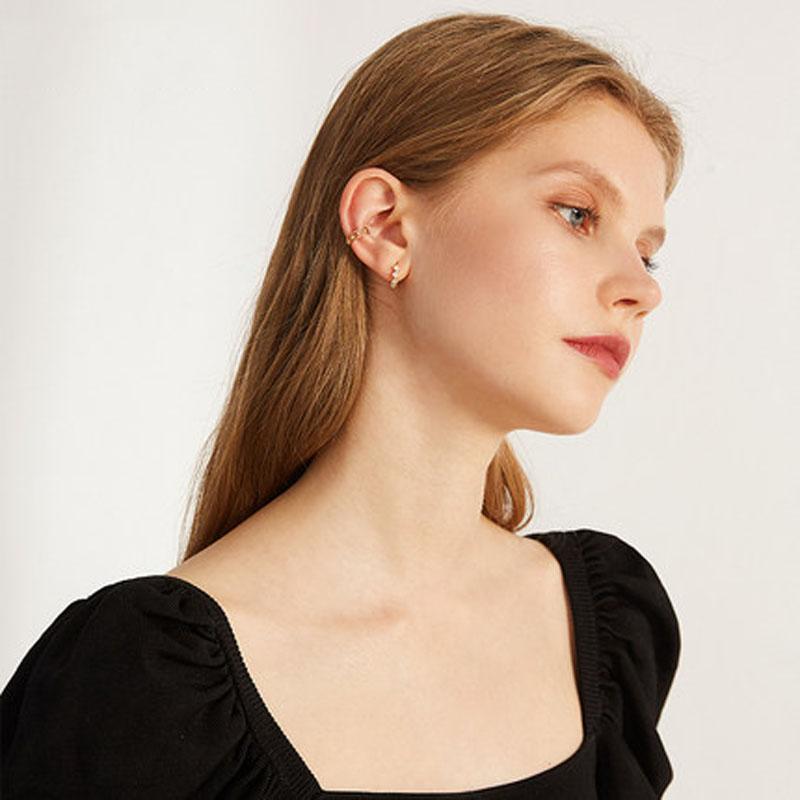 2019新款潮银耳饰品925银耳扣耳圈女小耳垂适合的耳钉耳环
