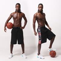 20180824150559288薄款宽松健身运动过膝五分篮球裤白色透气速干短裤男