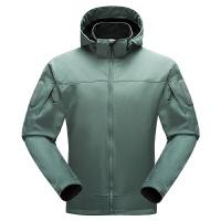 冲锋衣男户外战术软壳外套防水保暖防风加厚抓绒衣加绒登山服