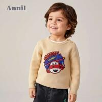 【2件4折�A估券后�r:104元】安奈�和��b男童毛衣保暖厚款2020新款迪士尼超��w�b������衫冬