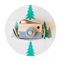 ins木质儿童玩具相机 北欧模型照相机摆件桌面拍摄道具房房间装饰1