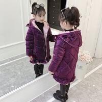 2018新款儿童棉袄冬季中长款外套女孩厚款韩版洋气冬装