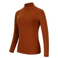秋冬半高领打底衫女 棉纯色气质长袖T恤外穿修身秋衣大码上衣