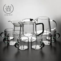 【特惠购】玻璃茶壶过滤泡茶壶家用耐高温耐热透明茶水分离泡茶器花茶具套装 9入