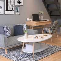 北欧茶几小户型家用客厅圆桌子卧室简约现代创意迷你沙发边几角几