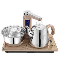 容声 全自动上水电热水壶家用自动断电不锈钢烧水壶电磁炉茶具茶台 可调温度和上水量/304钢烧水壶和锅