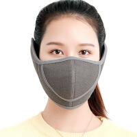冬季口罩女纯棉防寒防尘防雾霾保暖护耳可清洗透气防风