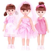公主洋娃娃仿真套装玩具单个布儿童会说话的娃娃智能对话女孩