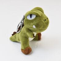 钥匙扣 小恐龙公仔书包挂件钥匙扣可爱龙背包毛绒挂饰