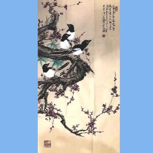 河南美术家协会会员,新乡市美协会员,河南国画轩画廊特约画家武三丁(花中气节最高坚)