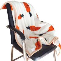�p�用�毯加厚冬季小毛毯午睡毯�k公室空�{毯�稳穗p人毛毯被子�}卜 米白色