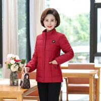 中老年女装秋冬装立领可拆卸袖子两穿马甲短款小棉袄棉衣外套 XL (建议90-110斤)