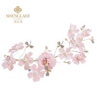 儿童头饰粉色头花韩式女孩花童花环可爱花朵走秀演出饰品