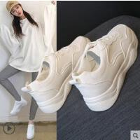 百搭潮款韩版网红运动鞋女冬季加绒棉鞋厚底小白鞋女chic板鞋