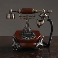 美式复古电话机摆件家居饰品欧式家用创意客厅古董摆设工艺品 电话机摆件