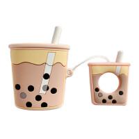 珍珠奶茶挂件AirPods耳机硅胶保护套AirPods2苹果蓝牙耳机保护套个性男女款潮萌新款日韩国ins风少女心防摔套