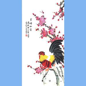 北京市美术家协会会员,北京市著名工笔画画家凌雪(吉祥如意)