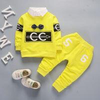 2018新款0一1-3岁婴儿童装男宝宝秋装4卫衣两件套装时尚潮衣服装2