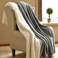 纯色双层加厚保暖毛毯冬季盖毯珊瑚绒毯被子单人双人毯子