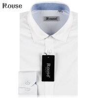 洛兹男正品15年新款商务正装全棉长袖白色衬衫春夏款 LM15126-03