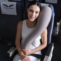 长途飞机睡觉充气旅行枕靠枕头护颈枕吹气便携U型枕汽车儿童