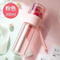 茶水分离泡茶杯双层玻璃杯过滤创意女透明便携随手杯水杯子
