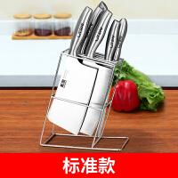 不锈钢刀架刀座菜刀架放刀具的架子多功能砧板插刀置物架厨房用品