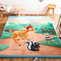 卡通水晶绒地垫儿童爬行垫可折叠瑜伽垫地毯卧室茶几榻榻米垫