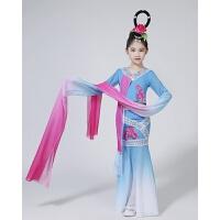 新款儿童水袖舞蹈服装古典舞演出服女童采薇表演服惊鸿舞女童古装