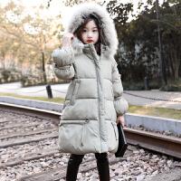 儿童2018冬季新款中大童洋气女孩加厚保暖棉衣