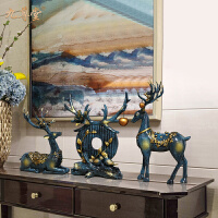 家居饰品欧式鹿创意轻奢风客厅电视柜玄关结婚礼物