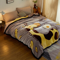 双层毛毯被子云毯加厚珊瑚绒盖毯子女冬季卡通床单人