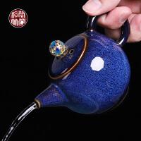 复古兔毫釉陶瓷茶壶家用过滤泡茶壶单个功夫茶具仿古窑变单壶小号
