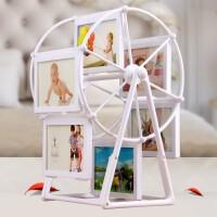摩天轮相框摆台 5寸创意个性手工DIY旋转风车相框组合办公室客厅儿童照片架子结婚生日纪念相册 高33*宽23cm