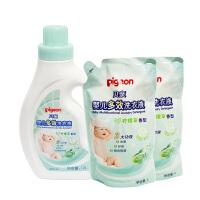 【当当自营】Pigeon贝亲 婴儿多效洗衣液促销装(柠檬草香型)1200ml+1000ml*2  PL249
