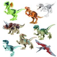 恐龙拼装玩具积木恐龙蛋模型三角龙拼装积木玩具霸王龙暴龙迅猛龙抖音