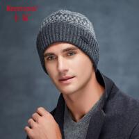 卡蒙户外保暖骑行帽子男冬天加绒毛线帽年轻人双层针织帽加厚冷帽9294