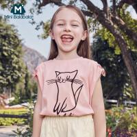 【618年中庆 2件4折价:40】迷你巴拉巴拉女童短袖T恤2020夏季新款时尚甜美萌趣宽松短袖上衣