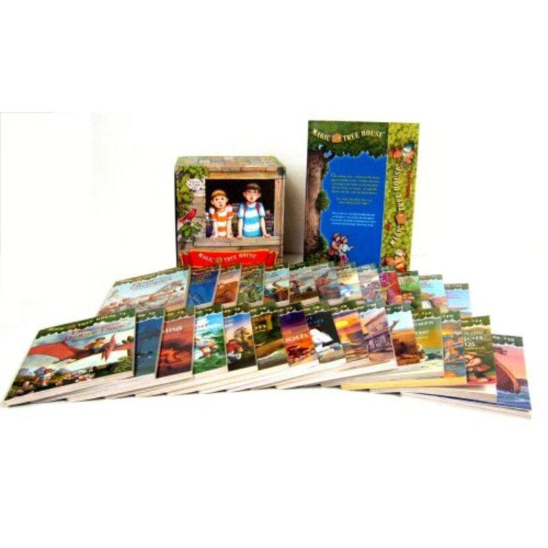 神奇树屋英文原版 The Magic Tree House 1-28 Boxset 神奇树屋1-28册盒装 6-9-12岁青少年儿童英语文学章节桥梁小说书籍小学生课外阅读物