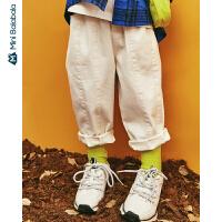 【年终狂欢 2件4折价: 80】迷你巴拉巴拉男女童萝卜裤立体廓形弹力舒适2019年秋装文艺风裤子