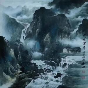 现为越世阁画院院长,中国艺术学会会员,艺宝在线特聘画家易剑赋(山谷回音)