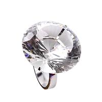 创意玩具水晶大钻戒 钻石大戒指 婚庆布景求婚道具情人节礼品朋友礼物新年