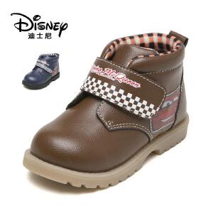 鞋柜/迪士尼冬防滑男童鞋魔术贴低筒短靴