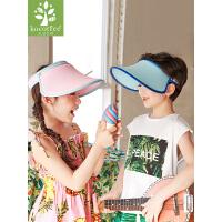 儿童帽子男童女童夏季太阳帽空顶防晒遮阳帽宝宝凉帽薄款防紫外线