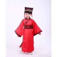 儿童古装汉服古代古装幼儿男童国学三字经弟子规书童演出表演服装