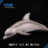 仿真海洋生物动物模型启智玩具儿童实心玩具大白鲨鱼虎鲸海龟海豚巨齿鲨