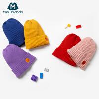 迷你巴拉巴拉儿童帽子2019冬新品柔软趣味多色保暖针织毛线帽子
